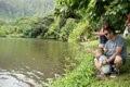 Family Fishing at  Ho'omaluhia Botanical Garden