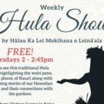 Hula Show by Halau Ka Lei Mokihana o Leinaala at National Tropical Botanical Garden South Shore Visitors Center