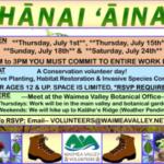Volunteer Opportunities in Waimea Valley